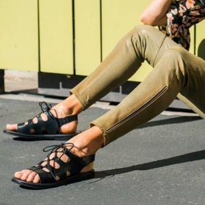 Saga Leather Ghillie Lace Up Sandals
